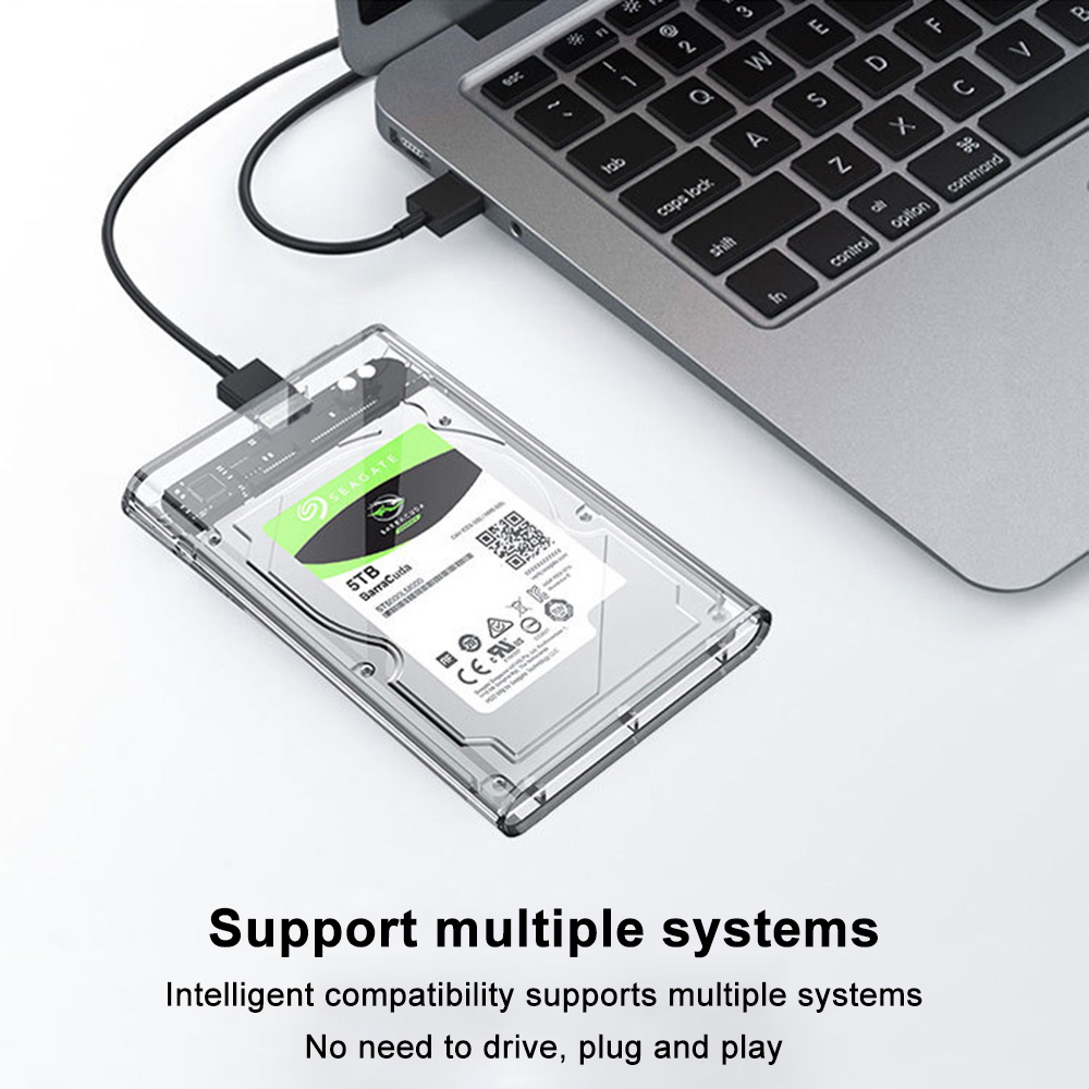 Hard Disk Box USB 3.0 2.5 Inches HDD Enclosure External HD Storage Device Hard-Disk Case 2.5-Inch Portable Hardisk