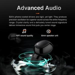 Image 2 - Sanlepus tws 5.0ミニbluetoothイヤホンワイヤレススポーツヘッドフォン3Dステレオヘッドセットとマイク