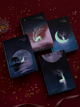 Star Night deer Light Simple Color Page Hand Drawn Korean nice Notebook Daily Planner Notebook My Planner Notebook Personalized max star page 4
