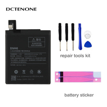 DCTENONE Phone Battery BM46 4050mAh For Xiao mi Redmi Note 3 / Note 3 Pro BM46 Phone Replacement Batteries +Tools original bm46 battery for xiaomi redmi note 3 phone high quality replacement batteries 4050mah