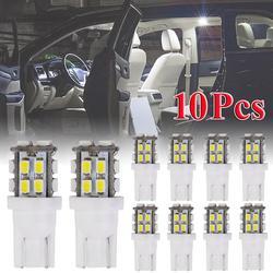 10 pièces T10 20SMD Led ampoule Super lumineux voiture lumières-194 168 2825 W5w A029 10w Dc 12v 1210 Smd 6000k blanc Super lumineux blanc Led