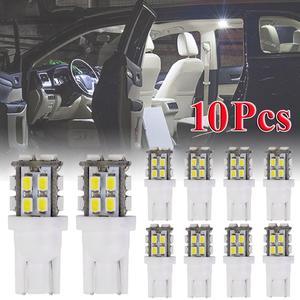 10 Pcs T10 20SMD Led Bulb Super Bright Car Lights - 194 168 2825 W5w A029 10w Dc 12v 1210 Smd 6000k White Super Bright White Led