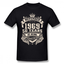 Born In November 1969 50 Years Of Being Awesome Men T Shirt Summer Car Styling Oversize Cotton Custom Short Sleeve T-shirt