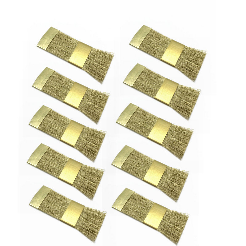 10pcs Bur Cleaning Brass Wire Brush Nail Drill Bits Cleaning Brush Copper Wire Brushes  Dental Burs Files Stand Cleaning Tool