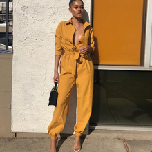 2019 Autumn Deep v neck Long Sleeve Women Jumpsuits Sexy Romper Trousers  Rompers Overalls