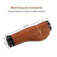 GUB G-611 Mountain Bike manopole per biciclette coprimanubrio per bicicletta corna ergonomica pelle bovina tessitura MTB Road Bike accessori per biciclette