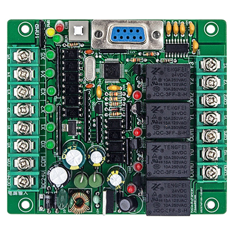 Programmable Logic Controller Plc FX2N 10MR STM32 MCU 6 Input 4 Output AD 0-10V Motor Controller DC 24V Automatic Relay Control