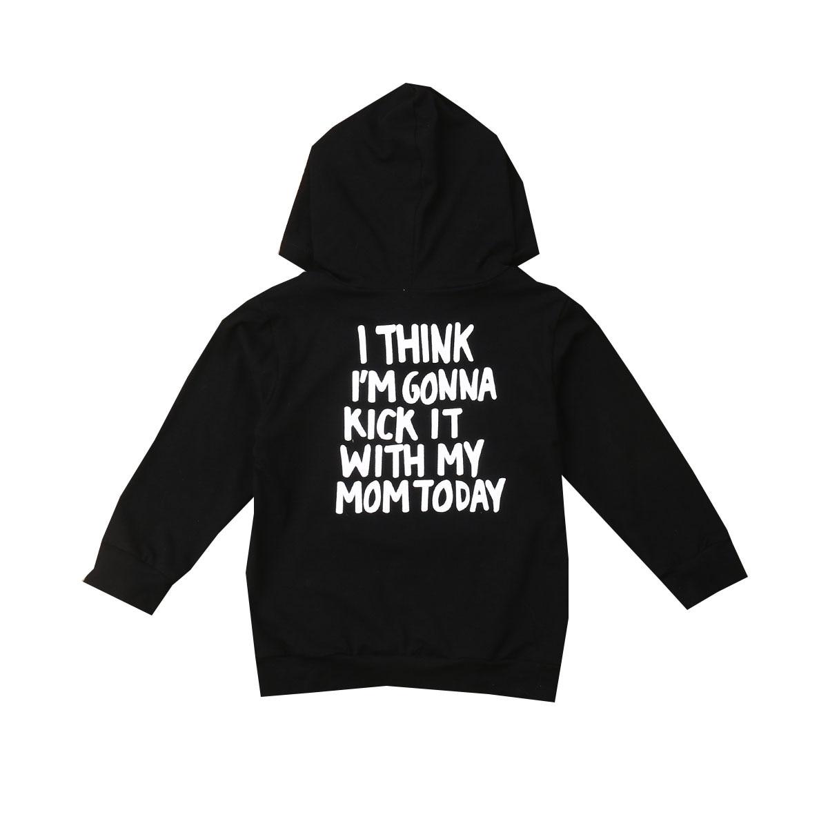 Kids Black Hooded Sweatshirt Hoodie