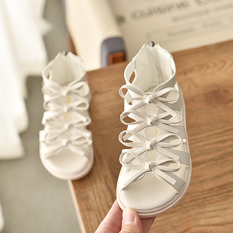 Summer Children's Sandals Korean Fashion Version Of The Hollow Girl Roman Sandals Open Toe High Help Sandals Non-slip Kids Shoes