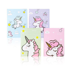 New cartoon unicorn + pen notebook mini portable week planner diary notepad stationery school supplies 50 page cute mini coil portable notepad sheep chicken bird panda office student school supplies planner notebook inner page with line