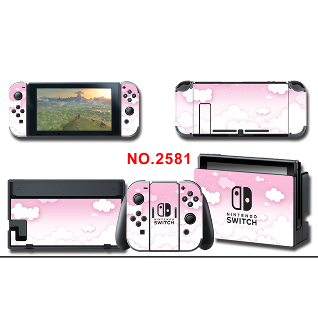 Protector Cover Decal Vinyl Skins Sticker for NS Console+Controller+Stand Holder Cloud sticker