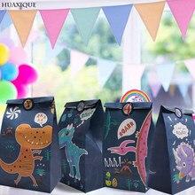 Festa de aniversário das crianças saco de doces sacos de papel do favor do aniversário do dinossauro