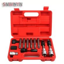 13pcs/set Alternator Freewheel Pulley Removal Engine Auto Tool Set Car Repair Hand Tool For Mercedes Benz BMW
