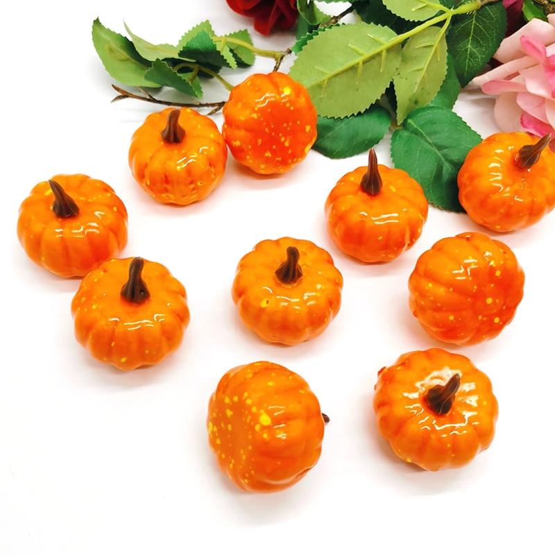 Artificial Fake Pumpkin Creatied Orange Foam Halloween Party Garden Home Decor