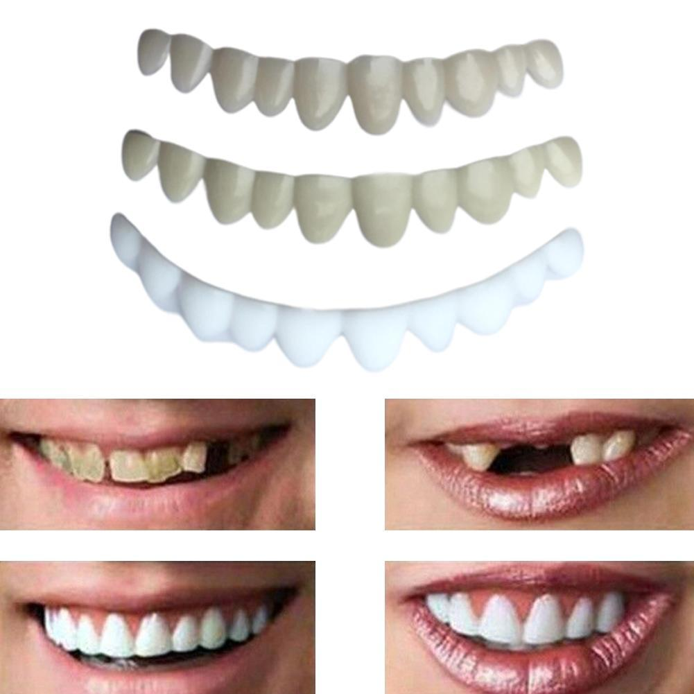 New Comfortable Snap On Men Women Tooth Perfect Smile Teeth Temporary Teeth Cover False Whitening Comfort Smile Fits U2K8