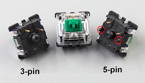 Gateron Switches 3 pin 5 pin Replacement of Kailh Switches and Cherry MX Switches of Mechanical Keyboard Free Shipping Keyboards  - AliExpress