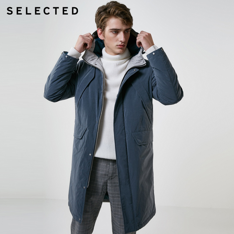 SELECTED Winter Long   Down   Jacket New Male Duck   Down     Coat   with Cap Warm Clothes S | 418412576