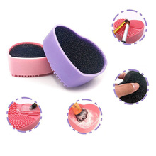 Sponge-Remover Makeup-Brush-Cleaner Eyeshadow Cleaning-Pad Silicone for Off-Hand-Tool