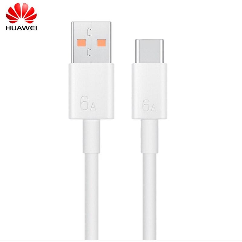 Оригинальный зарядный кабель Huawei 6A, 100 см, USB 3,1 Тип C, шнур для быстрой зарядки для Nova 8 8se 9 7 Pro Mate 40 RS E 30 P40 P30 Pro