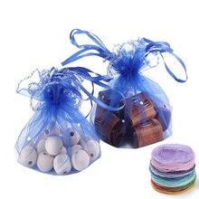 ホット販売 10 個ラウンド巾着オーガンザバッグジュエリーポーチ結婚式クリスマスパーティーギフトバッグディスプレイ保存袋 6zsh836