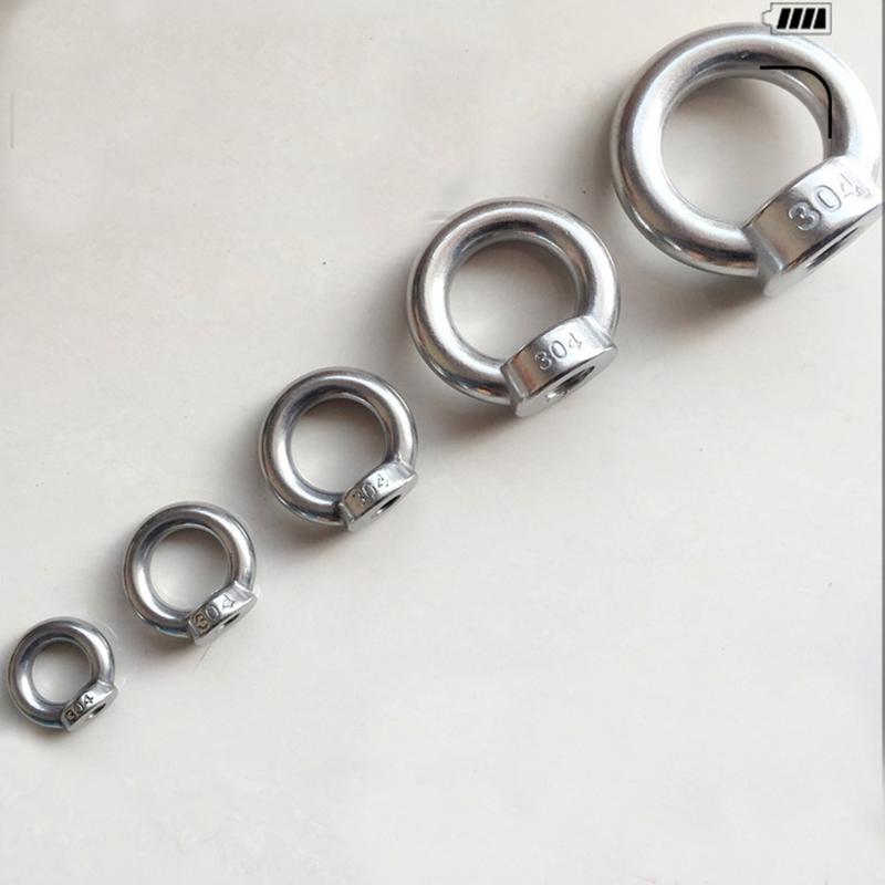 10 pcs 304 Stainless Steel Ring Shape M3 M4 M5 M6 Eye Bolts Eyed Threaded Nuts ring nut thumbnail