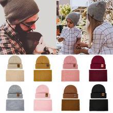 WISHCLUB/комплект зимней шапки из 2 предметов, двойная шапка для взрослых, модная теплая вязаная женская шапка, комплект, шерстяная шапка, шарф, зимняя кожаная вязаная шапка с узором