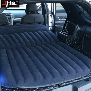 Image 2 - JHO SUV Car Inflatable Mattress Flocking Travel Air Bed With Air Pump Universal Auto Portable Outdoor Camping Moisture proof Pad