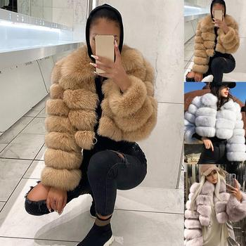 2020 New style real furs coat 100% natural fur jacket female winter warm leather fox fur coat high quality fur vest dropshipping image