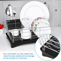 Dreamburgh 304 Stainless Steel Dish Drainer Drying Rack For Kitchen Counter Storage Racks Bowl Organizer Utensil Holder Drainer