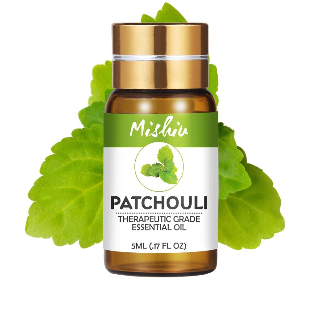 Mishiu Pure Essential Oils Aromatic Frankincense Vetiver Clary Sage Clove Thyme Jasmine Vanilla Massage Humidifier Aroma 5ML