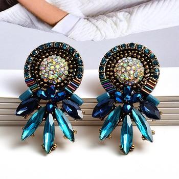 Colorful Crystal Earrings 1