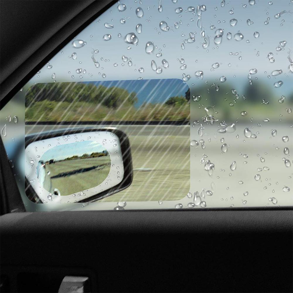 2 ชิ้น/เซ็ต Anti หมอกฟิล์มกระจกหน้าต่าง Clear Mist รถกระจกมองหลังป้องกันฟิล์มกันน้ำกันฝนรถสติกเกอร์