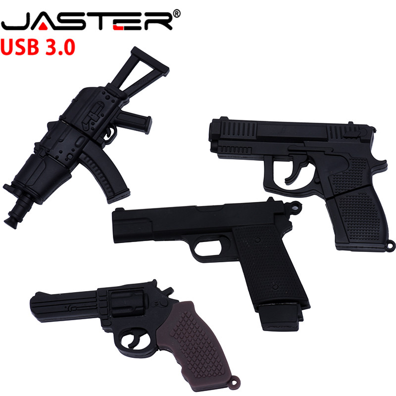 JASTER 3.0 Submachine Gun Usb Flash Drive Pendrive 4G 8G 16G 32G Handgun Ak47 Thumb Drive Usb 3.0 Cartoon Pistol Pendrives