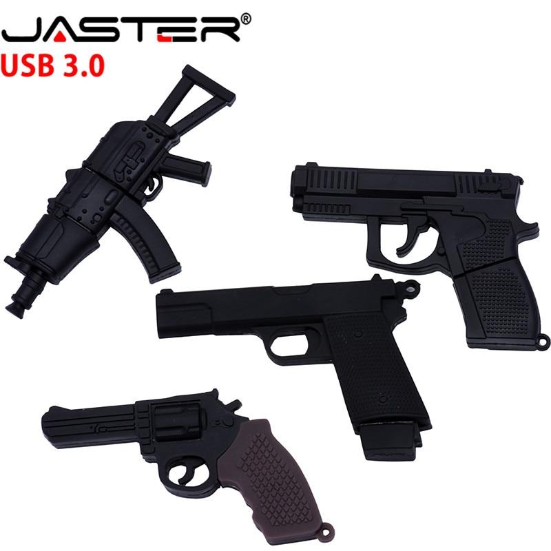 JASTER 3.0 Submachine Gun Usb Flash Drive Pendrive 4G 8G 16G 32G Handgun Ak47 Thumb Drive Usb 3.0 Cartoon Pistol Pendrives