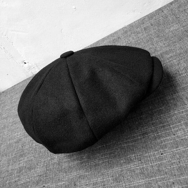 Chapeau en laine de Camel noir 2019 | Casquette pour hommes, Newsboy, chapeaux à chevrons Tweed chauds hiver octogonal, chapeau rétro Gatsby pour hommes et femmes, chapeaux plats BLM65