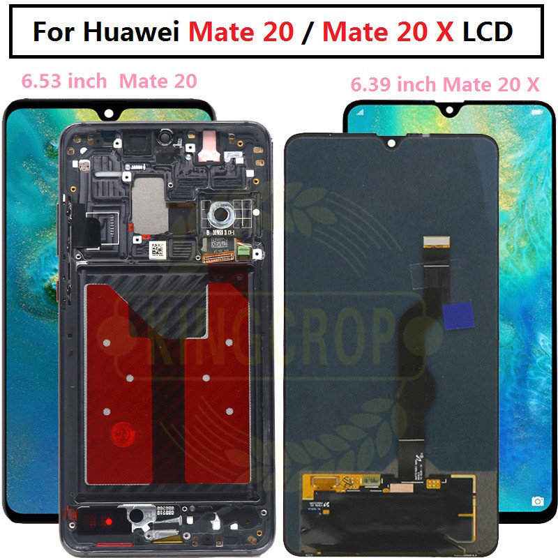 Original Huawei mate 20 LCD Display Touch Screen Digitizer Replacement HUAWEI mate 20 X Huawei mate 20 HMA-AL00 LCD with frame