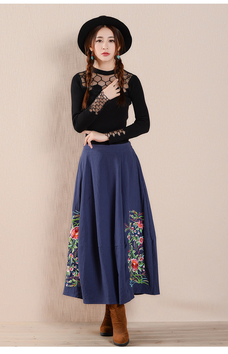 United Embroidery Ethnic Pleated 11