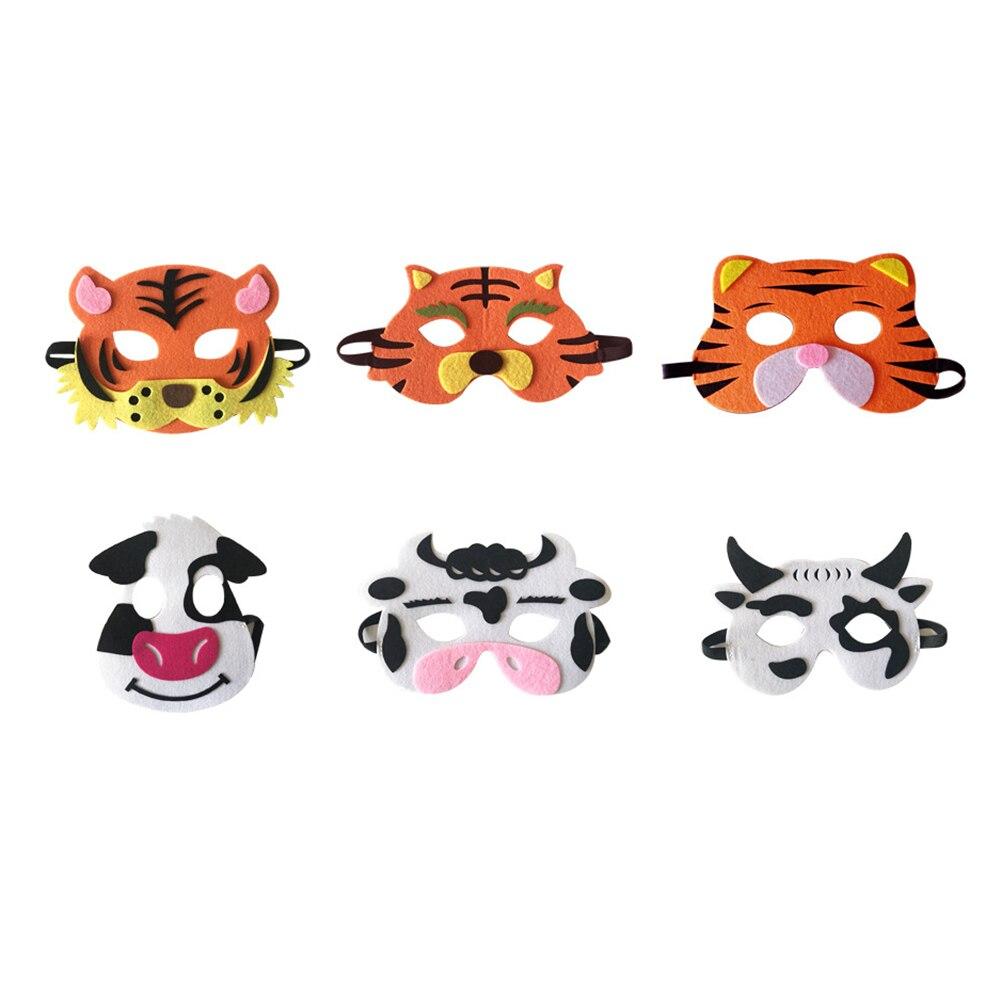 Hot Sale Children Halloween Masks Cute Animal Lion Tiger Fox Masquerade Party Costume Cosplay Prop