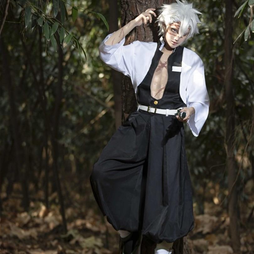 Demon Slayer: Kimetsu no Yaiba Shinazugawa Sanemi Cosplay Carnaval Costume Halloween Christmas Costume