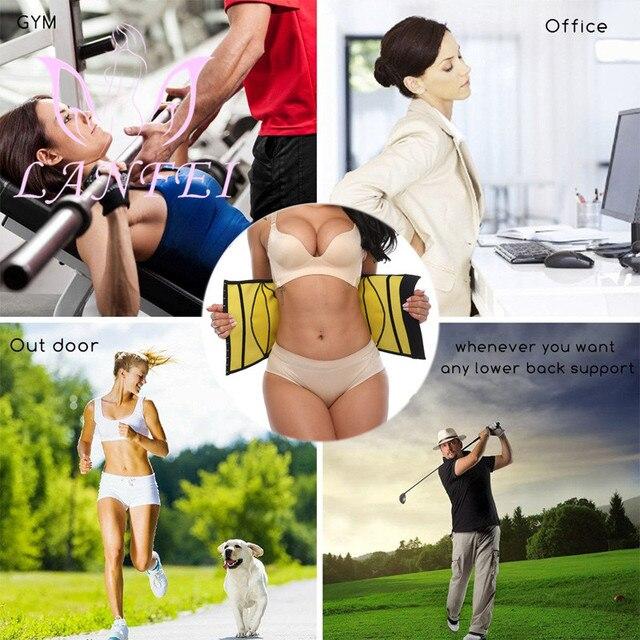 LANFEI Waist Tainer Tummy Shaper Belt Women Hot Neoprene Sweat Body Shaper Strap Girdle Slimming Waist Trimmer Corset Shapewear 3