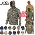 Impermeable cazadora para hombre chaquetas de caza al aire libre táctico senderismo caza Jack de secado rápido piel tela camuflaje Anti-UV abrigo
