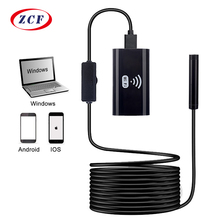 F99 wifi内視鏡カメラ8ミリメートルレンズHD720Pソフトハードワイヤーワイヤレスendoscopio防水検査ボアスコープスマートフォン用