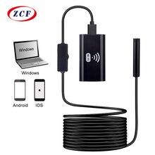 F99 wifi endoscópio câmera 8mm lente hd720p fio rígido macio sem fio endoscópio inspeção à prova dsmart água para telefones inteligentes