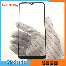 g8 10Pcs Outer Glass Panel Lens With Laminated OCA For Motorola G8 G8 Play XT2015 G8 Power LCD Front Touch Screen Glass