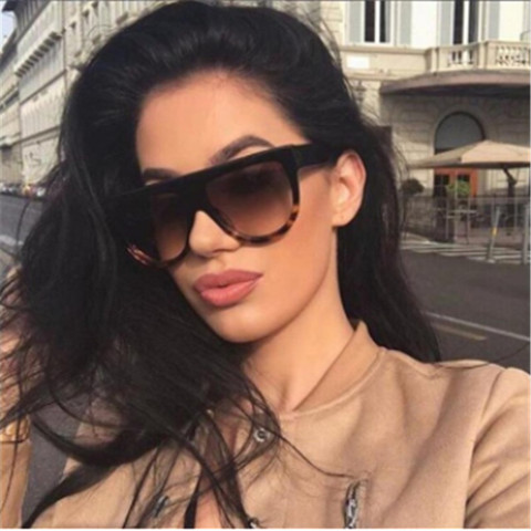 AOXUE New Vintage Pilot Flat Top Sunglasses Women Semi Rimless Big Sunglasses Kim Kardashian Brand Shades Driving Glasses UV400 Pakistan