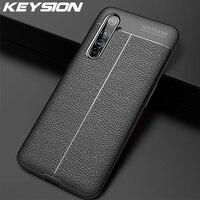 KEYSION-funda a prueba de golpes para móvil, funda trasera del teléfono de silicona con patrón de Ltchi para Realme X50 X50 Pro 6 Pro OPPO A91 A31 A8 F15 Find X2 Pro