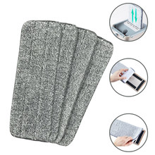 4/6/10 PCS Microfiber Mop Cloth Kitchen Floor Cleaning Flat Mop Rag Bathroom Replacement Mop Pads Household Cleaning Tools(China)