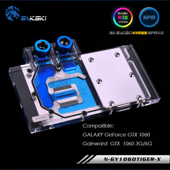 Bykski GPU cooler work with GALAXY GeForce GTX 1060 Gainward GTX 1060 3G/6G full cover watercooling block /N-GY1060TIGER-X* image