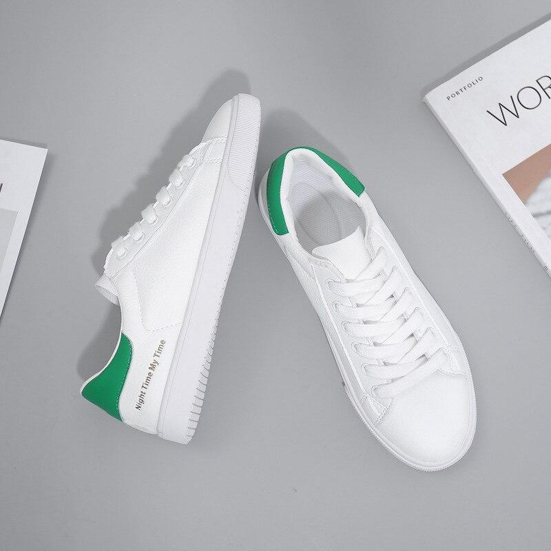 BACKCAMELSmall Weiß Schuhe Weibliche 2019 Frühling Neue Mikrofaser Leder Gürtel mit Niedrigen Gummi Boden Rutsch Tragen ResistanceSIZE37 40 - 3