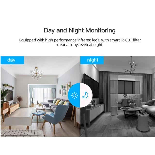 SDETER 1080P Wireless Mini WiFi Camera Home Security Camera IP CCTV Surveillance IR Night Vision Motion Detect Baby Monitor P2P 3